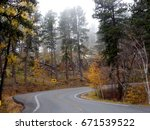 iron mountain road curves in... | Shutterstock . vector #671539522
