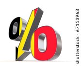 shiny metallic percentage... | Shutterstock . vector #67153963