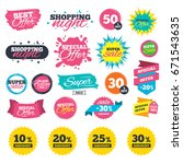 sale shopping banners. sale... | Shutterstock .eps vector #671543635