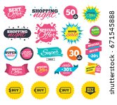 sale shopping banners. buy now... | Shutterstock .eps vector #671545888