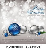 elegant christmas background.... | Shutterstock .eps vector #67154905