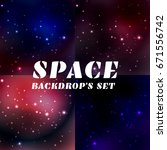 abstract deep space background. ... | Shutterstock .eps vector #671556742