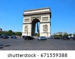 paris   france    june 18 2017  ... | Shutterstock . vector #671559388