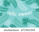 hello summer. background with... | Shutterstock .eps vector #671561545