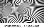 optical illusion black and... | Shutterstock . vector #671568205