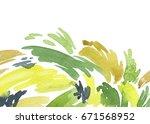 watercolor hand painted... | Shutterstock . vector #671568952