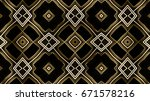decorative golden background | Shutterstock . vector #671578216