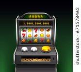 3d slots machine wins the...   Shutterstock .eps vector #671578462