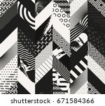 abstract seamless grunge... | Shutterstock .eps vector #671584366