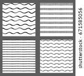 hand drawn ink seamless pattern ... | Shutterstock .eps vector #671585056