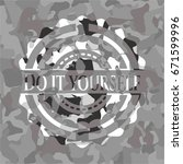 do it yourself grey camo emblem | Shutterstock .eps vector #671599996