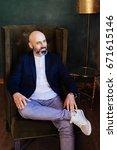 elegant senior businessman with ...   Shutterstock . vector #671615146