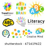 creative brain. genius school.... | Shutterstock .eps vector #671619622