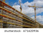new building construction site  ... | Shutterstock . vector #671620936