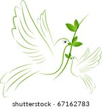 green peace bird