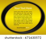 template yellow  black and... | Shutterstock .eps vector #671630572
