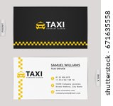 business card design in black ... | Shutterstock .eps vector #671635558