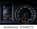 car dashboard | Shutterstock . vector #671640775