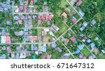 aerial photo from drone ... | Shutterstock . vector #671647312