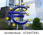 the european central bank is... | Shutterstock . vector #671647342
