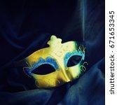 carnival mask | Shutterstock . vector #671653345