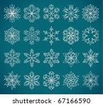 twenty elegant snowflake vectors | Shutterstock .eps vector #67166590