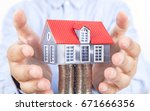 the rapid rise in house prices | Shutterstock . vector #671666356
