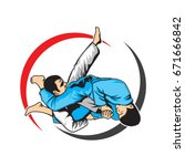 martial arts submission   Shutterstock .eps vector #671666842
