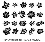 flower set | Shutterstock .eps vector #671670202
