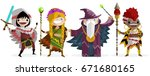 role fantasy characters | Shutterstock .eps vector #671680165
