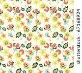 seamless flower  pattern | Shutterstock .eps vector #67168924