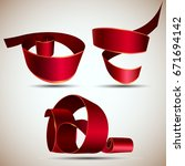 ribbon red vector isolated... | Shutterstock .eps vector #671694142