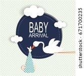 baby arrival | Shutterstock .eps vector #671700235