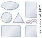 Blank Postage Stamps Vector Se...