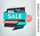 sale banner design. vector... | Shutterstock .eps vector #671706856