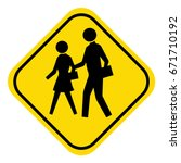 school warning sign students...