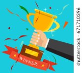 championship and leadership... | Shutterstock .eps vector #671710396