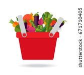 fresh organic food. vector.... | Shutterstock .eps vector #671710405
