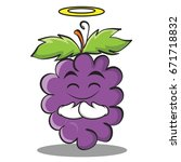 innocent grape character... | Shutterstock .eps vector #671718832