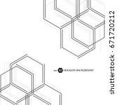 hexagonal geometric background. ... | Shutterstock .eps vector #671720212