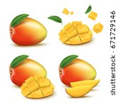 fresh mango design elements ... | Shutterstock .eps vector #671729146