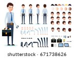 male clerk character creation... | Shutterstock .eps vector #671738626