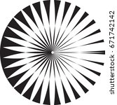 lines in circle form .vector... | Shutterstock .eps vector #671742142