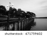 black and white photo  the...   Shutterstock . vector #671759602
