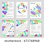 abstract vector layout... | Shutterstock .eps vector #671768968