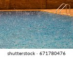 swimming pool with background... | Shutterstock . vector #671780476