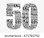 happy 50th birthday word cloud... | Shutterstock .eps vector #671782702