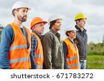 group of construction workers... | Shutterstock . vector #671783272