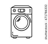 washer machine icon. outline... | Shutterstock .eps vector #671786332