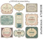 vintage vector set labels | Shutterstock .eps vector #67180108